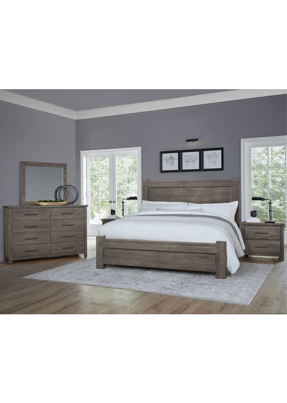 Vaughan-Bassett Dovetail Mystic Grey King Poster Complete Bed