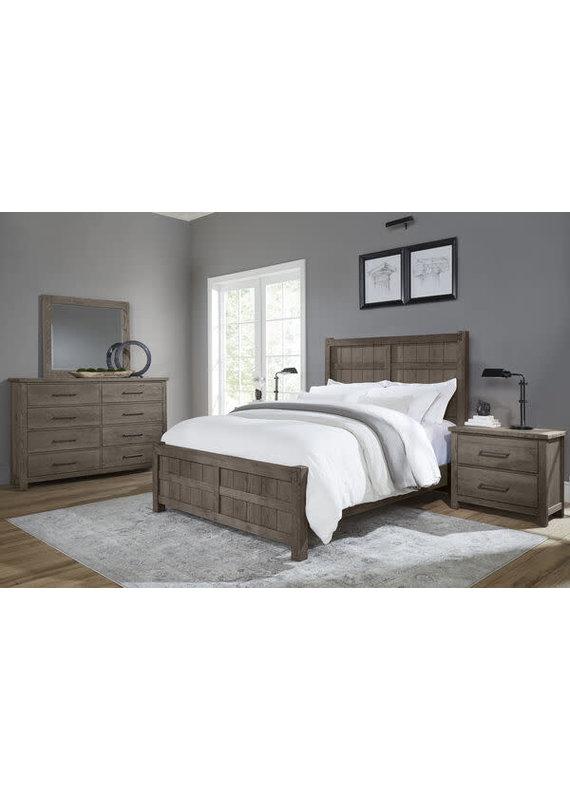 Vaughan-Bassett Dovetail Mystic Grey Queen Board & Batten Complete Bed