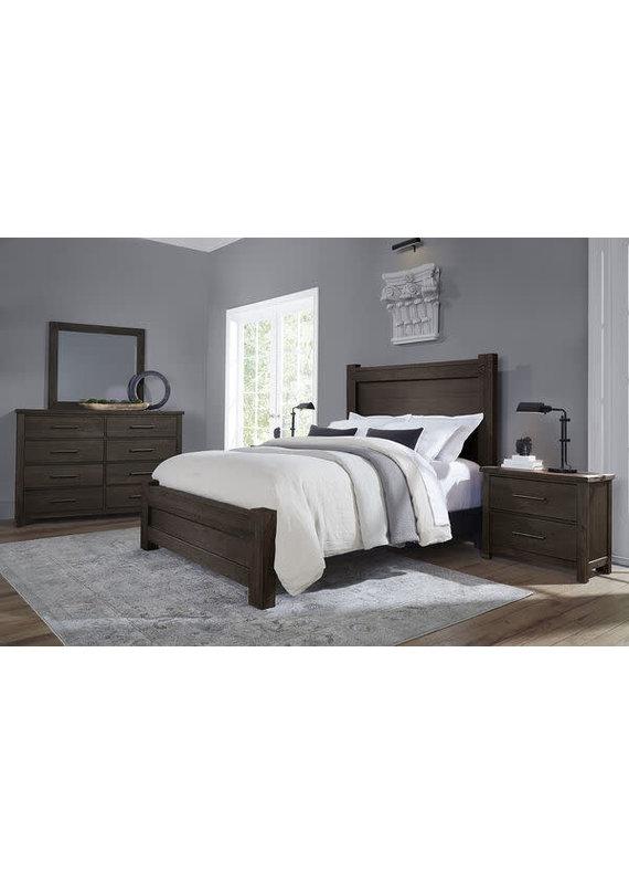 Vaughan-Bassett Dovetail Java Queen Poster Complete Bed