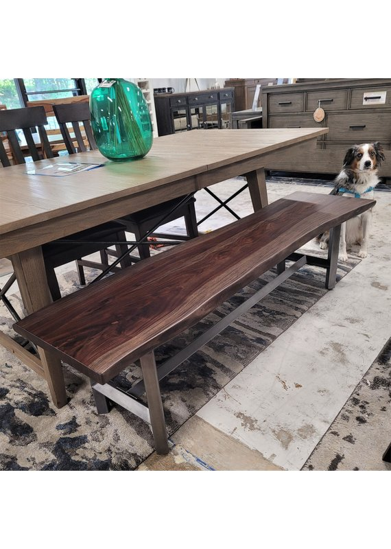 Style N Living Eros Live Edge Dining Bench