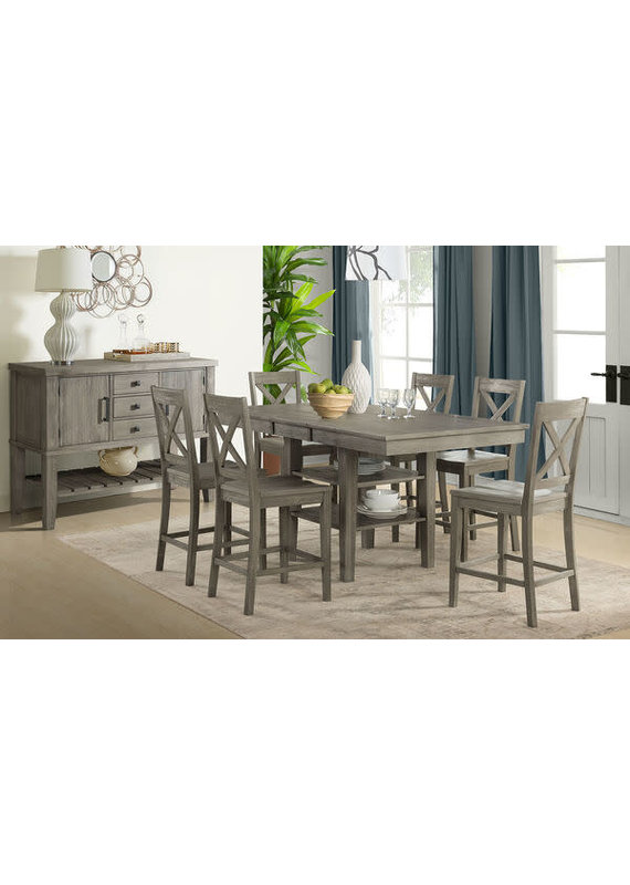 A-America Huron Distressed Grey Gathering Table