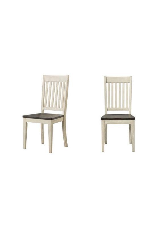 A-America Huron Cocoa Chalk Slatback Side Chair