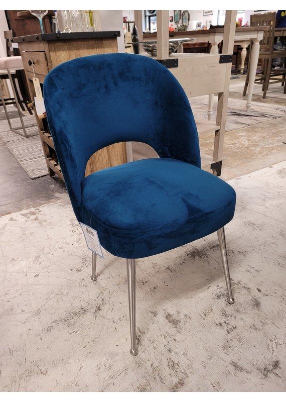 Sirius Dining Chair in Navy Velvet