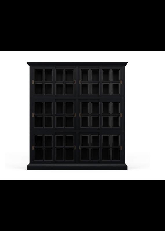 Bramble English Batavia Black Bookcase 2 Column