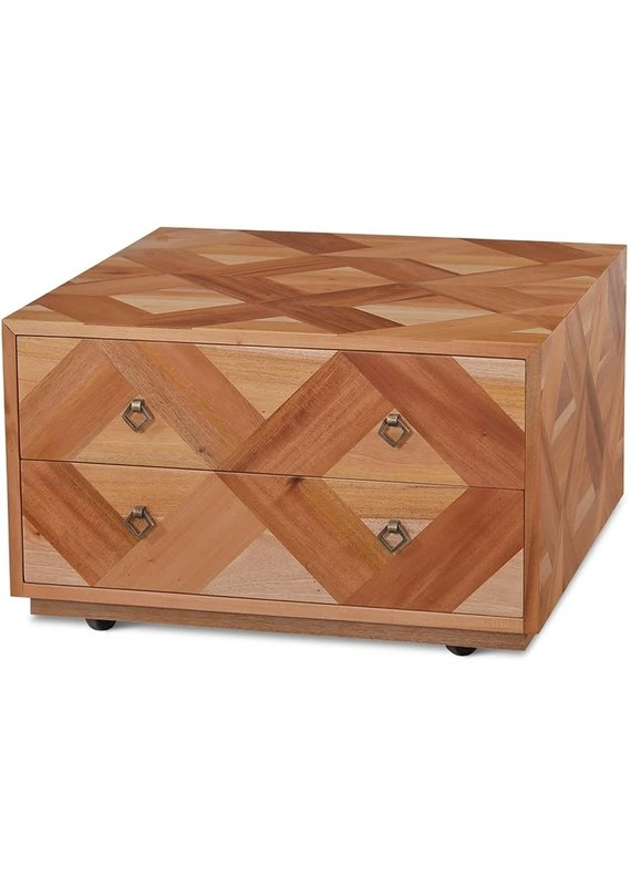 Bramble Harden Natural 2 Drawer Square Coffee Table