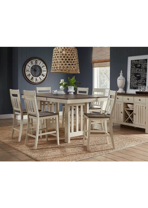 A-America Bremerton  Gathering Height Table in Saddle Dust and Oyster
