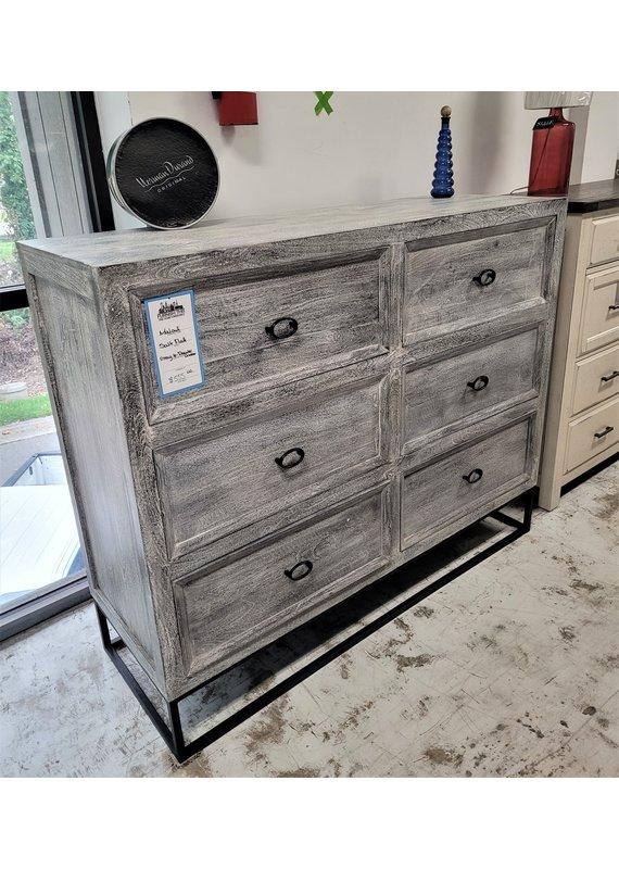 Malouf Salt Flat Gray 6-Drawer Dresser