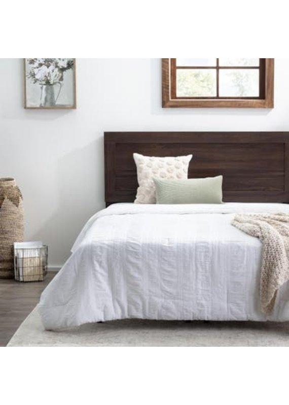 Malouf Everlane Home Classic Framed Wood Platform Bed, Twin, Rustic Mahogany