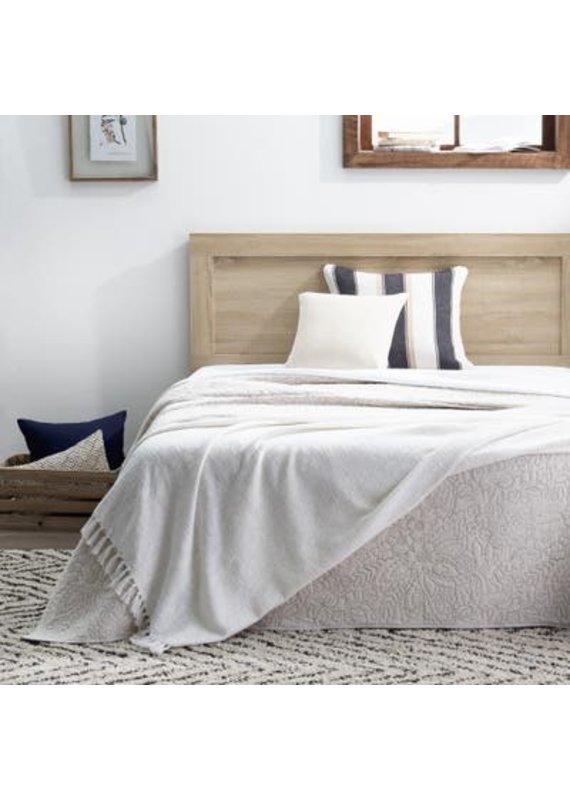 Malouf Everlane Home Classic Framed Wood Platform Bed, Twin, Southern Oak