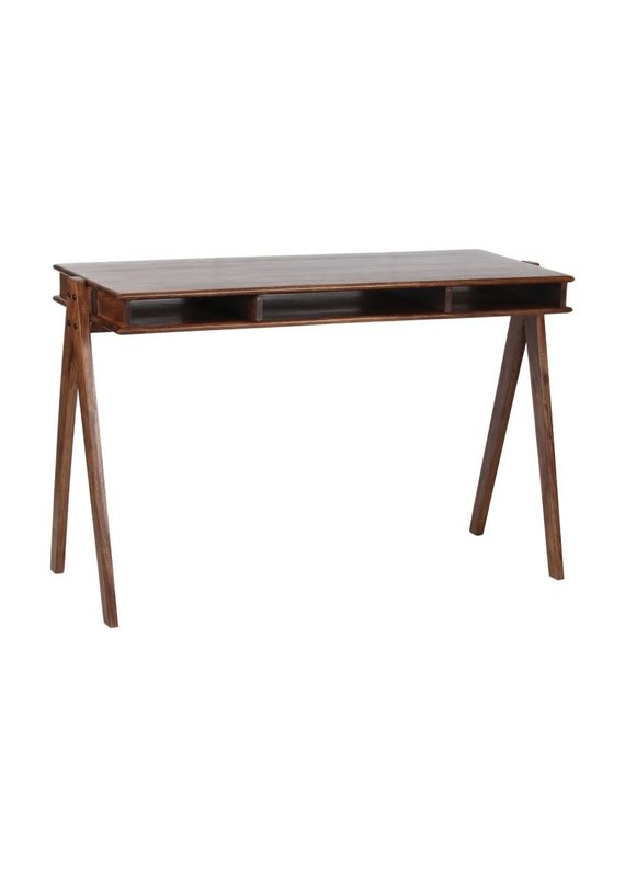 Porter Designs Portola Walnut Acacia Desk