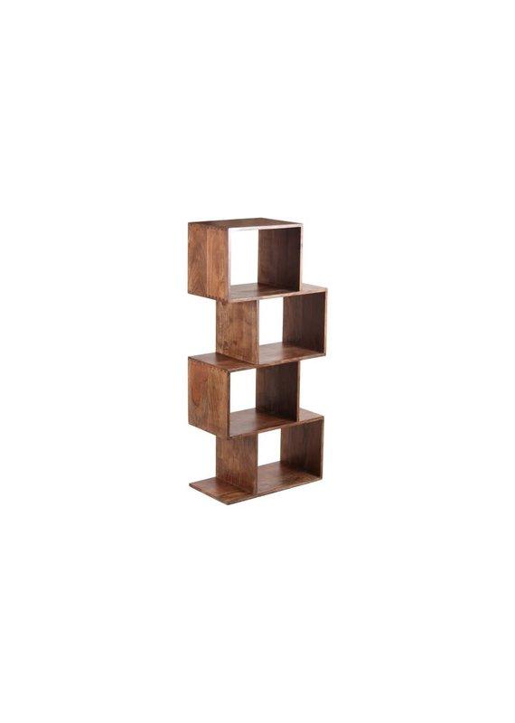 Porter Designs Portola Walnut 4 Cube Bookcase