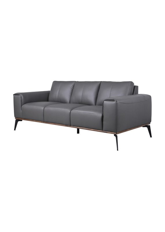 Porter Designs Pietro Gray Leather Sofa
