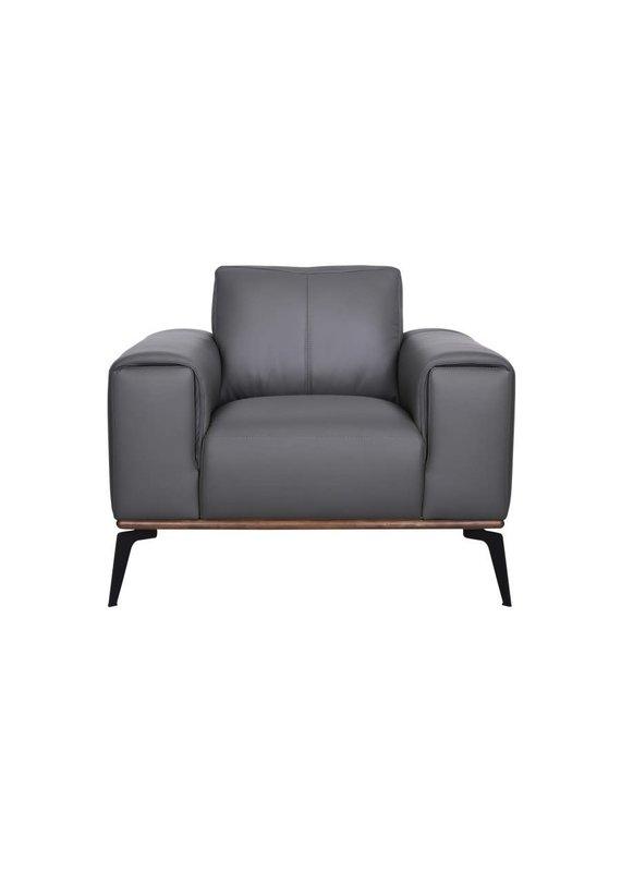 Porter Designs Pietro Gray Leather Chair