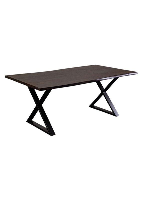 "Porter Designs Manzanita Midnight 72"" Live Edge Sheesham Dining Table"