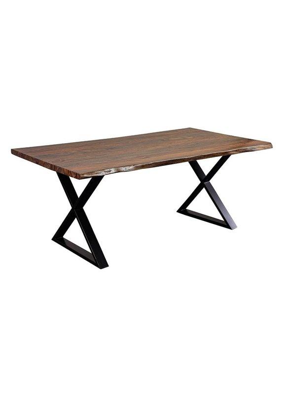"Porter Designs Manzanita Harvest 72"" Live Edge Sheesham Dining Table"