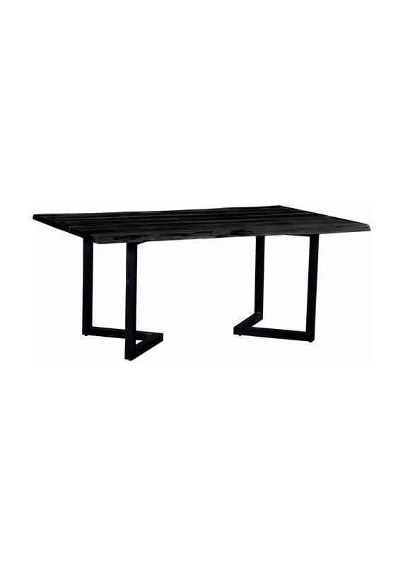 Porter Designs Crossover Black Live Edge Dining Table
