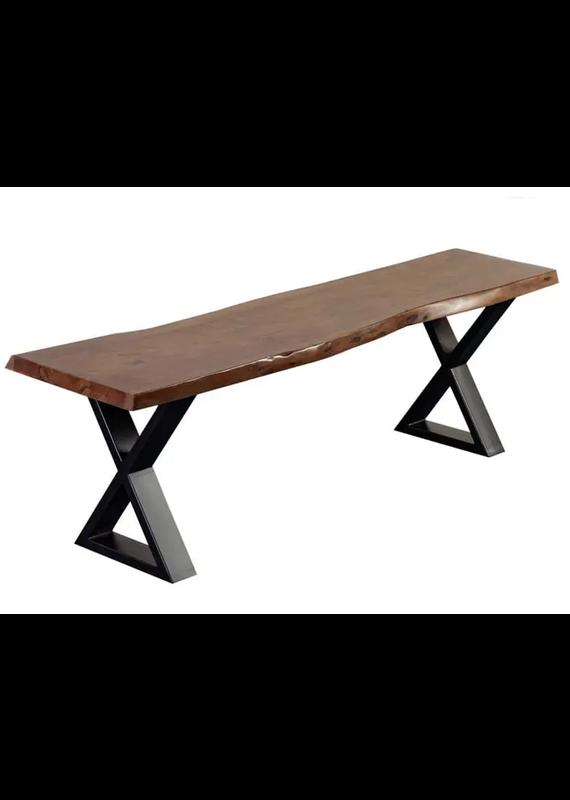 Porter Designs Manzanita Walnut Live Edge Bench