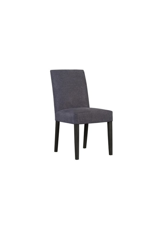 Porter Designs Enna Gray Dining Chair with Black Legs