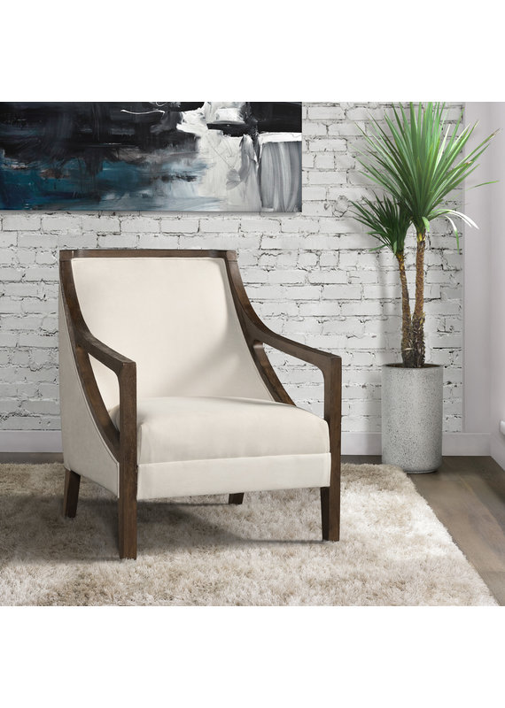 Elements Hopkins Chair with Brown Arm in Columbia Natural