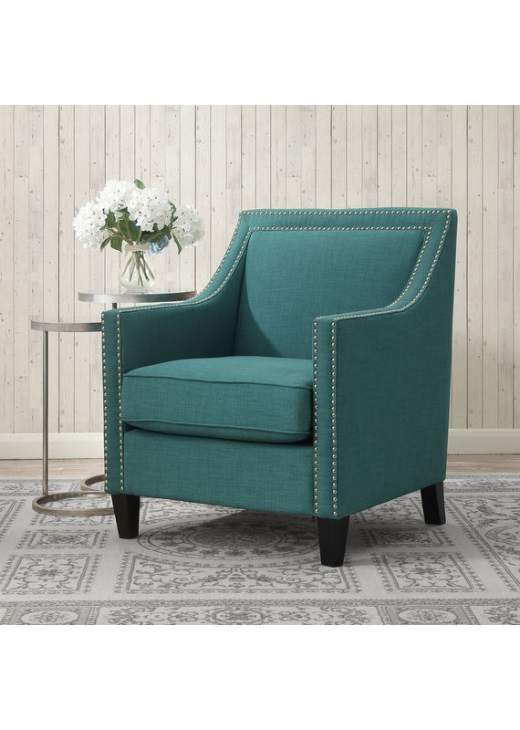 Elements Erica Chair with Chrome Nails in Heirloom Teal