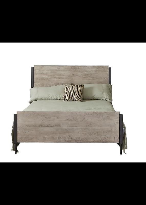 Style N Living Metz Sandblast Grey Queen Complete Bed
