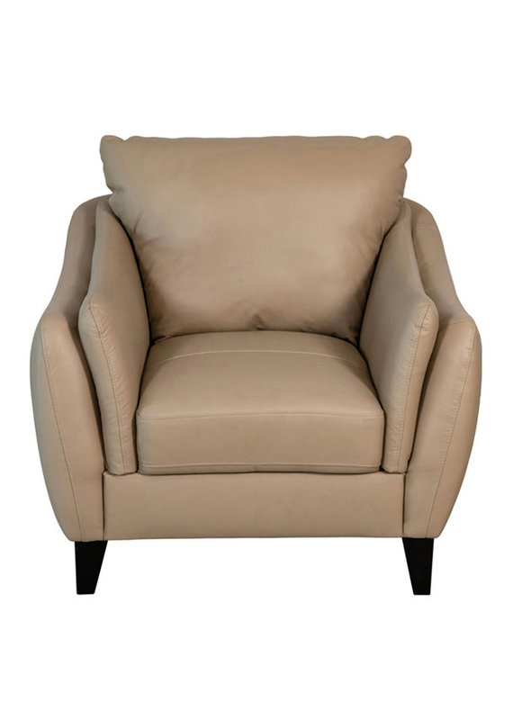 Luke Leather Molly Chair in Taupe