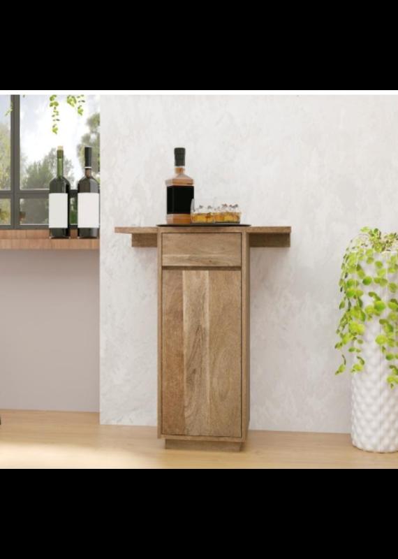 Style N Living Rockway Natural Bar Cabinet