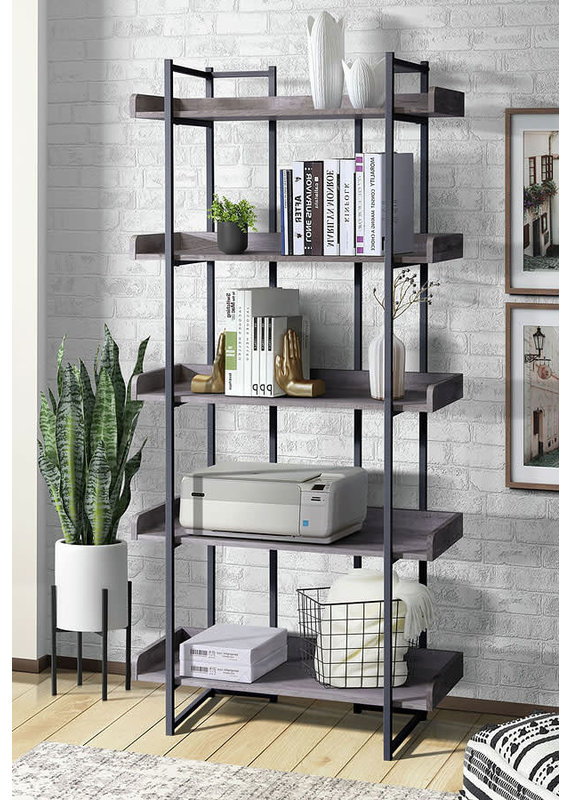 Elements Preston Bookshelf in Grey