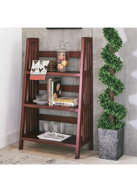 """Elements Harrison 47"""" Ladder Shelf in Dark Red"""