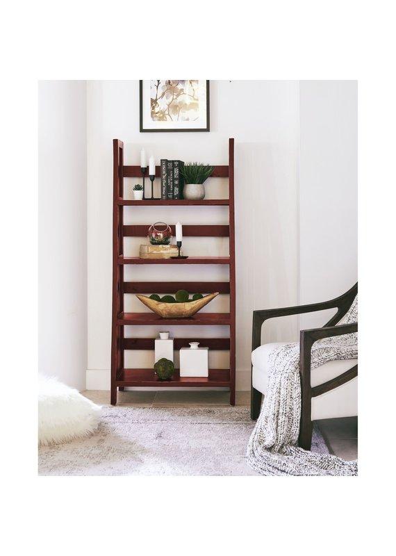 """Elements Harrison 60"""" Ladder Shelf in Dark Red"""