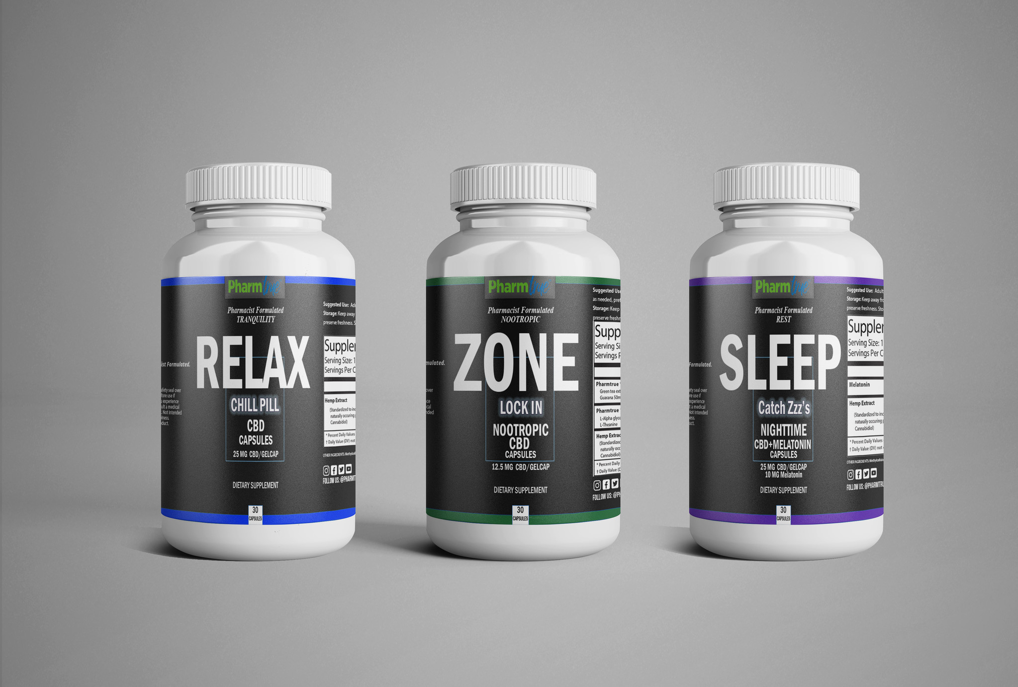 Capsules: 3 pack (dream, relax, zone)-1