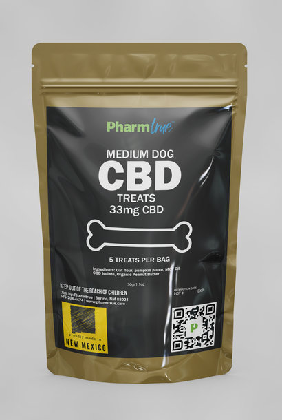 Hemp Dog Treats: Medium 33mg CBD