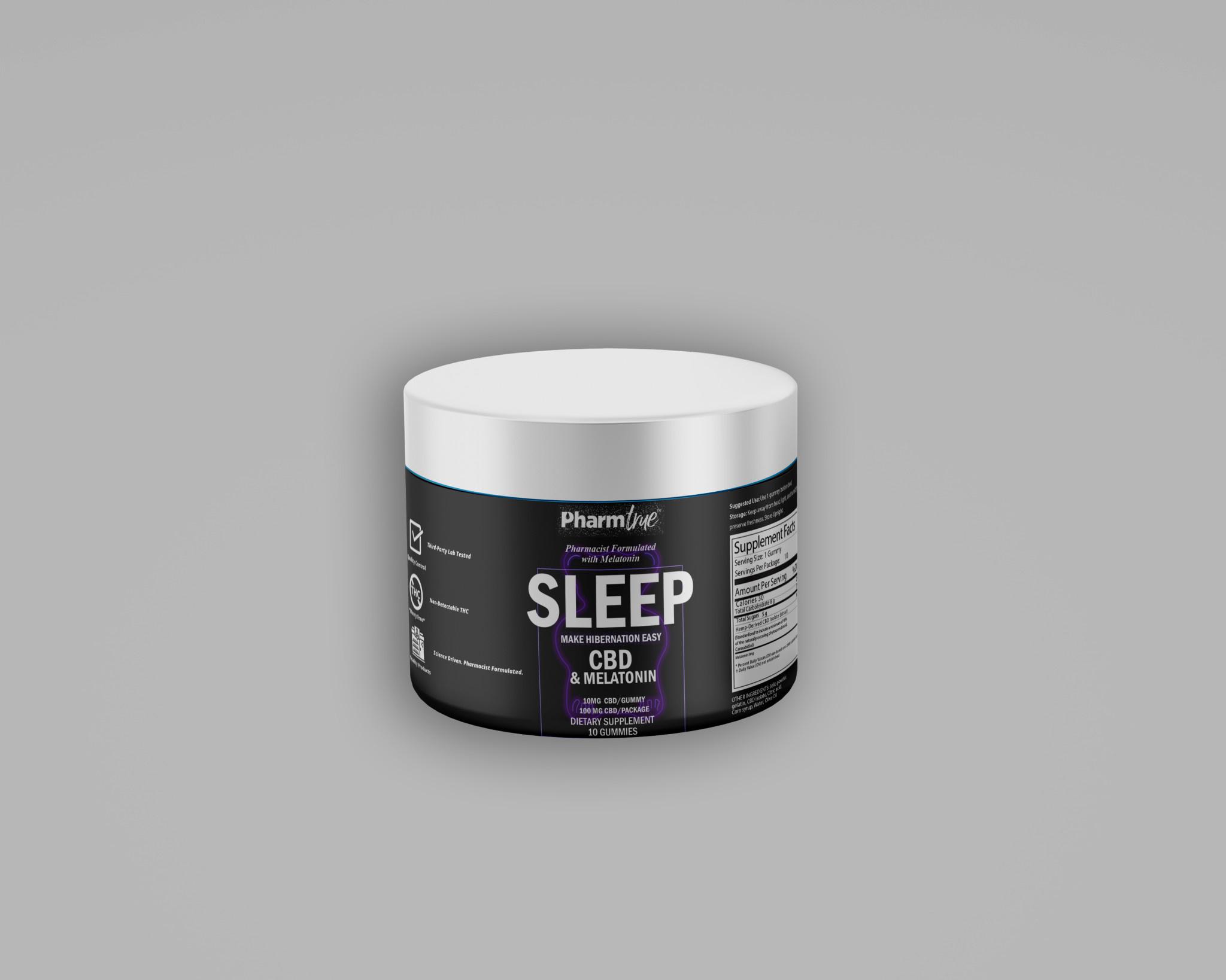 Sleep Bears | 10 mg CBD | 5 mg Melatonin | 10 ct-1