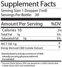 CBD OIL 1500 mg TINCTURE - Natural-2