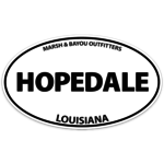 Marsh & Bayou Outfitters | Hopedale Decal 5""