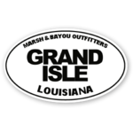 Marsh & Bayou Outfitters | Grand Isle Decal 5""