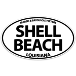 Marsh & Bayou Outfitters | Shell Beach Decal 5""