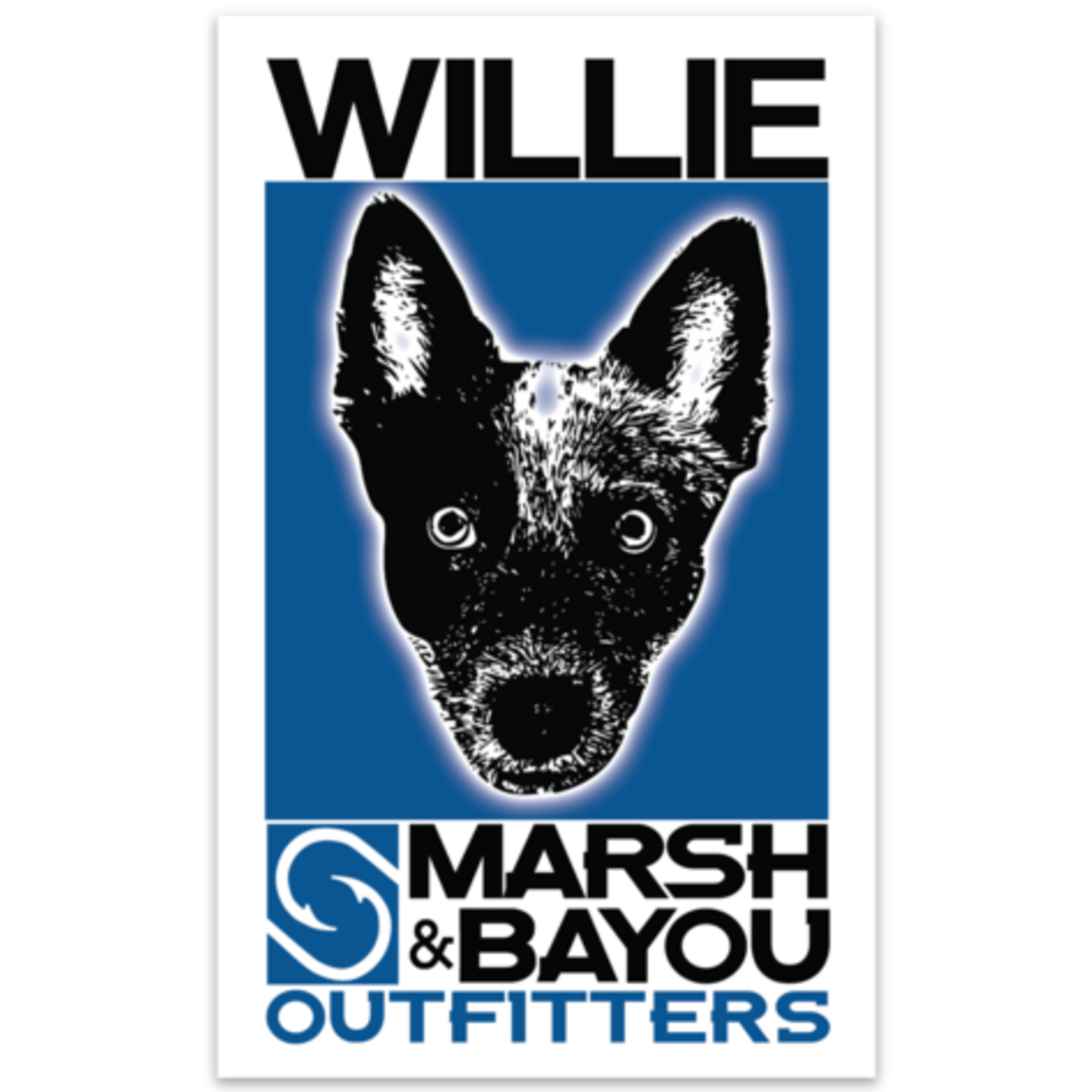 "Marsh & Bayou Outfitters | ""Willie"" Decal"