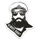 "Marsh & Bayou Outfitters | The Captain Is ""Always Right"" Decal"