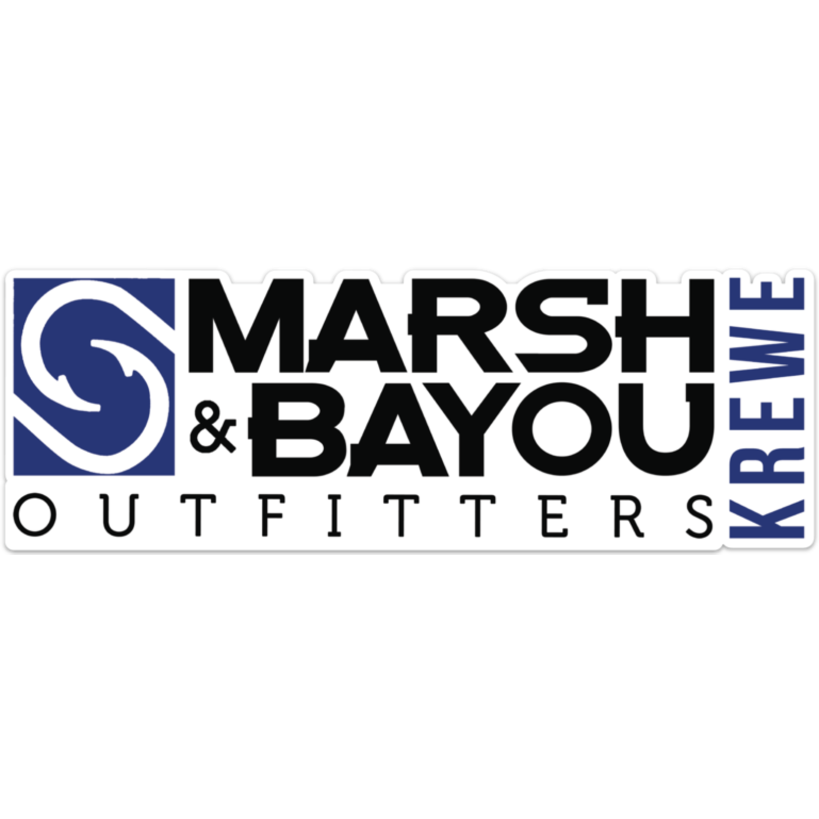 "Marsh & Bayou Outfitters | ""Krewe"" Decal"