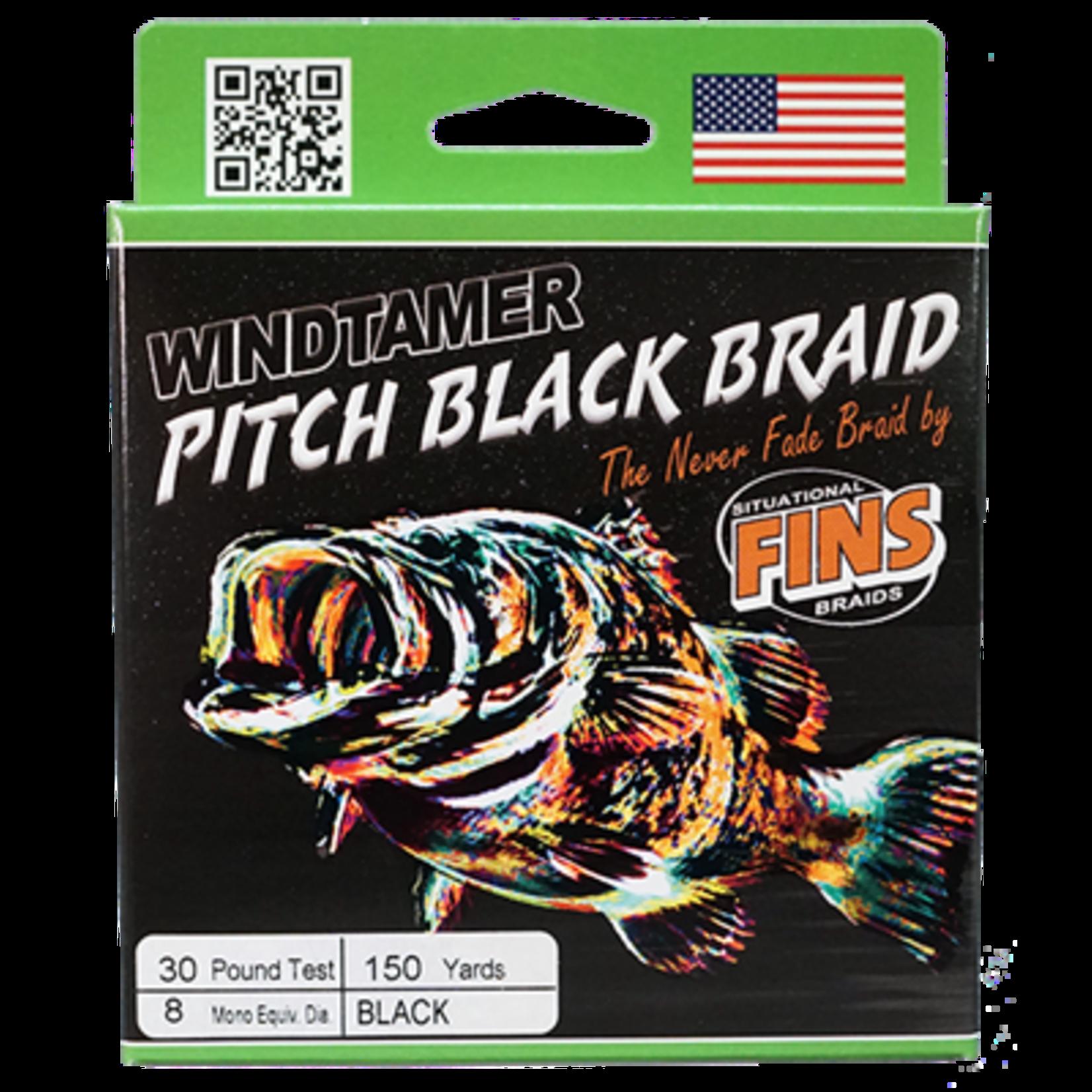 "FINS Braids | 30lb 150 yards ""Pitch Black"""