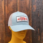 "Marsh & Bayou Outfitters | NOLA Badge ""Smoke Blue & Aluminum"" Patch Hat"