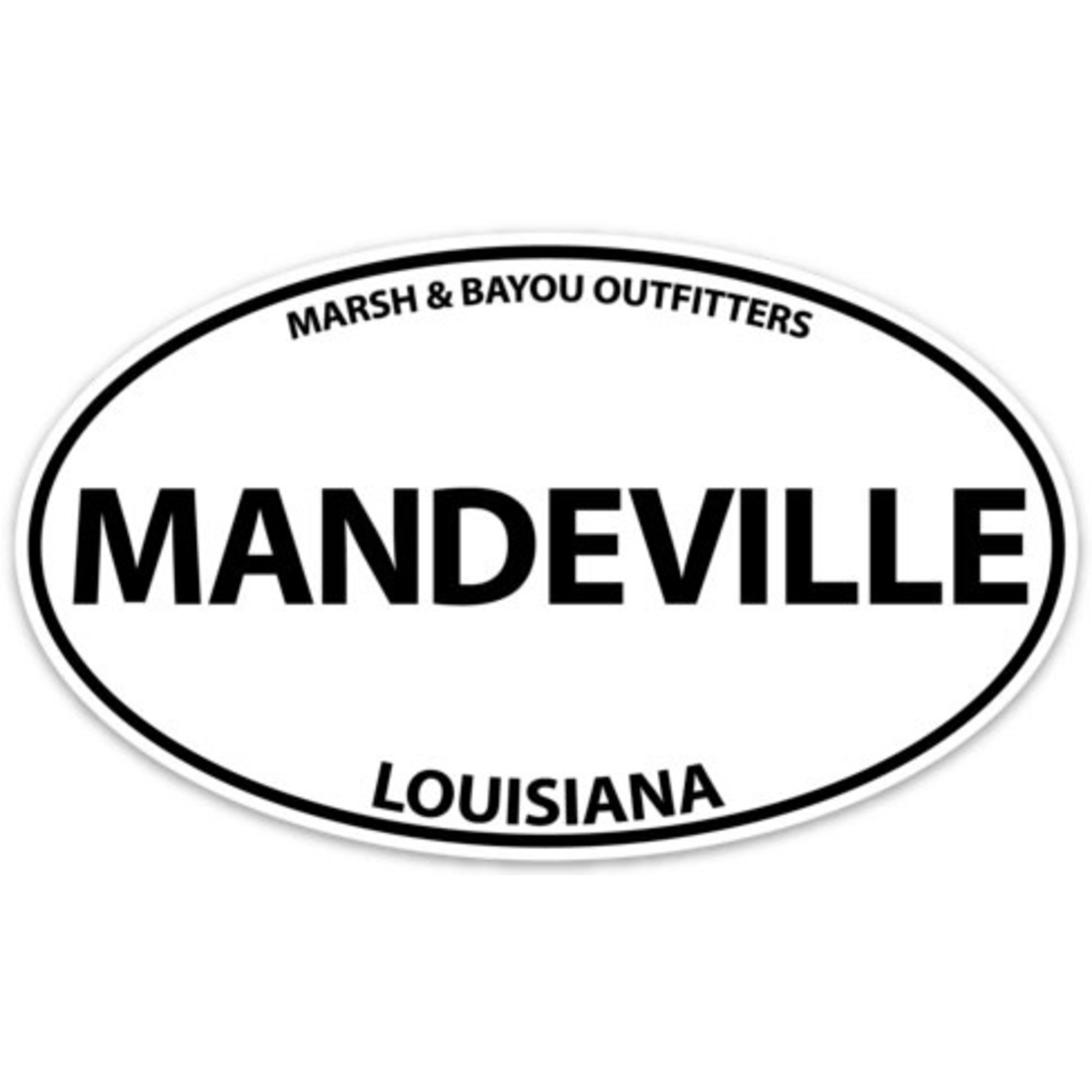 """Marsh & Bayou Outfitters   Mandeville Decal 5"""""""