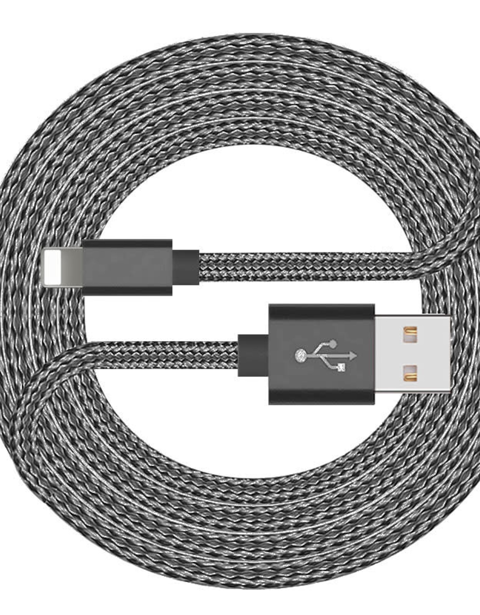Nanoshop Nanoshop Braided Charge Cable Lightning 2m Grey