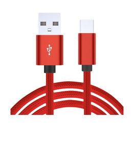 Nanoshop Nanoshop Braided Charge Cable USB-C 2m Red