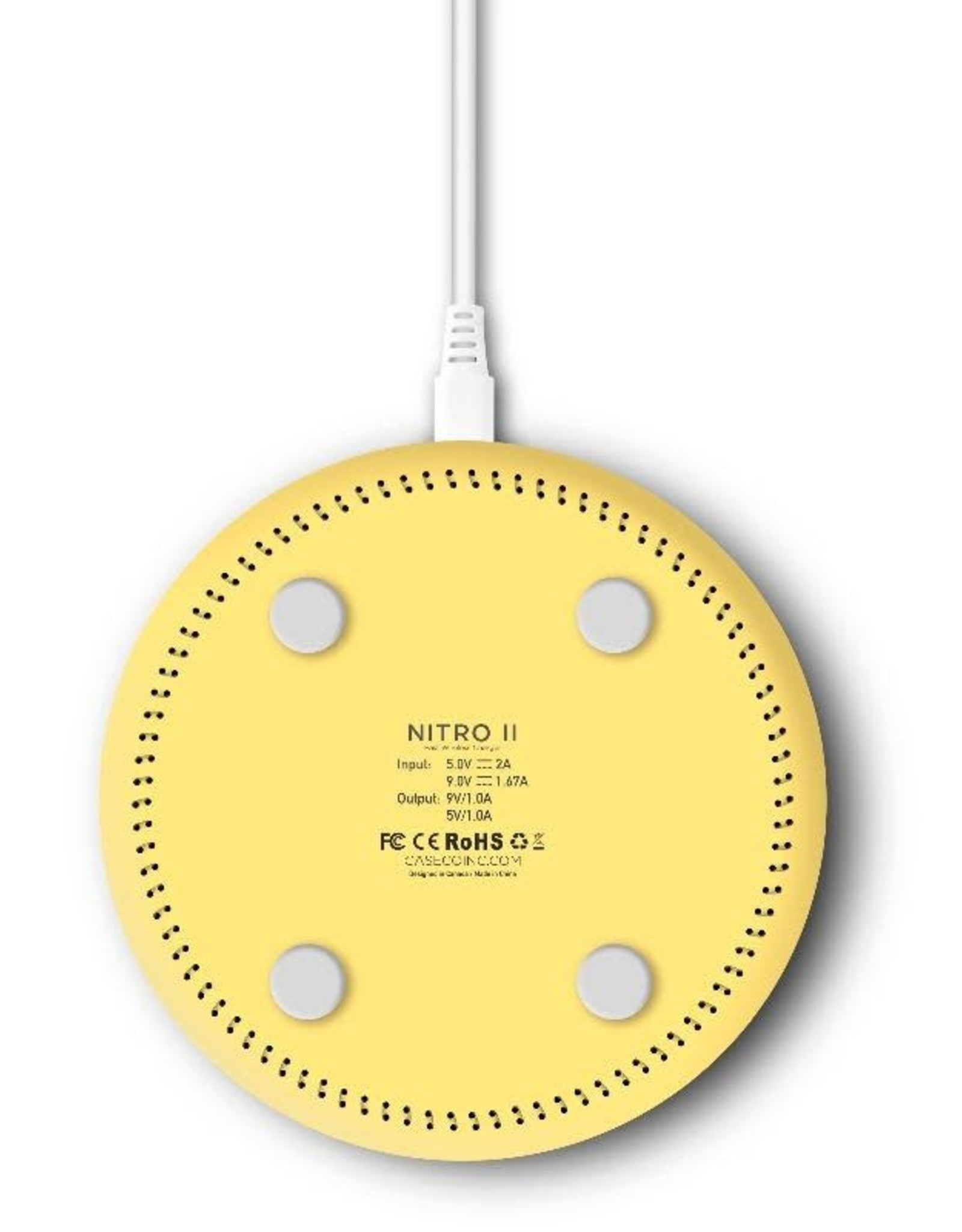 Caseco Caseco Nitro II Wireless Charging Pad - Yellow
