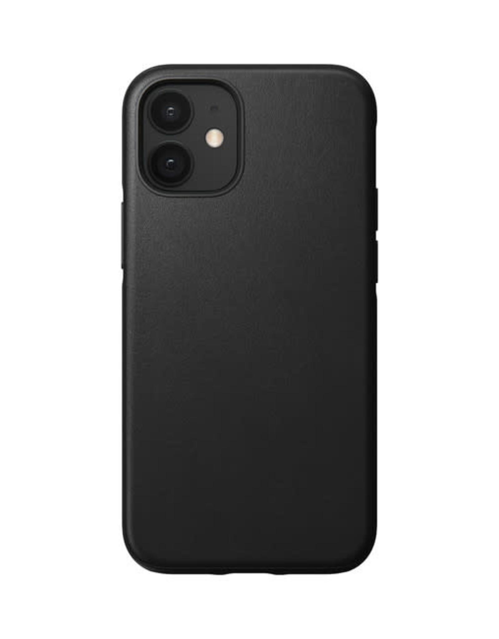Nomad Rugged Leather Case iPhone 12 mini Black