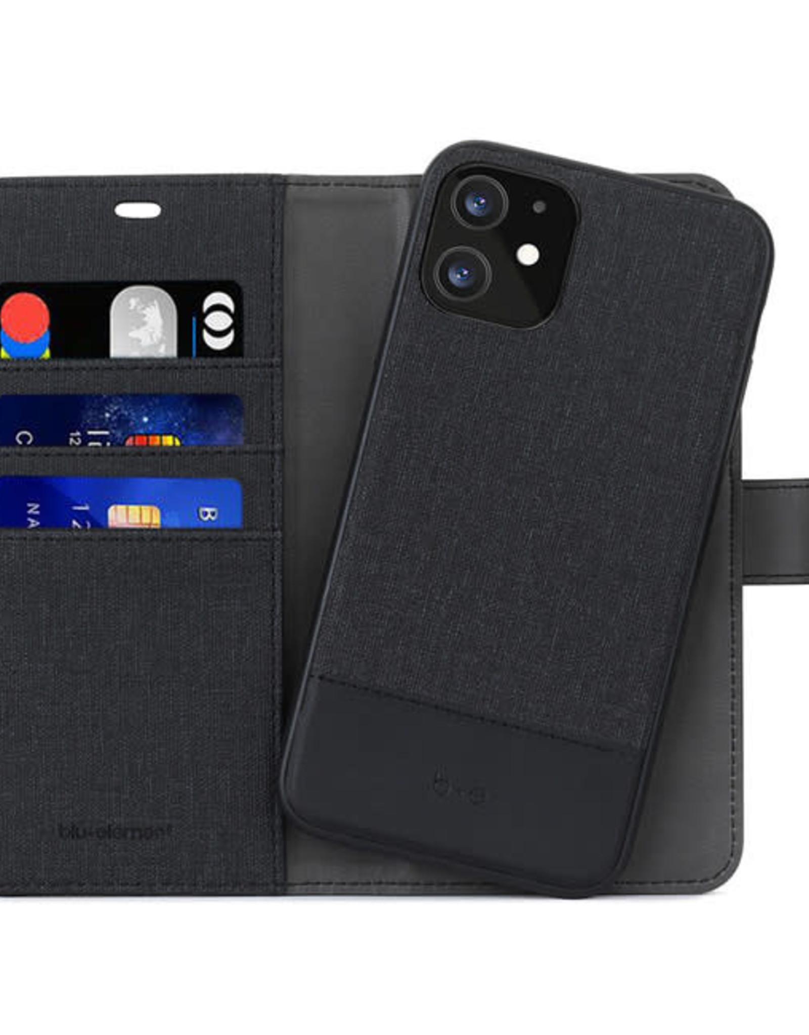 Blu Element 2 in 1 Folio iPhone 12/12 Pro Black/Black