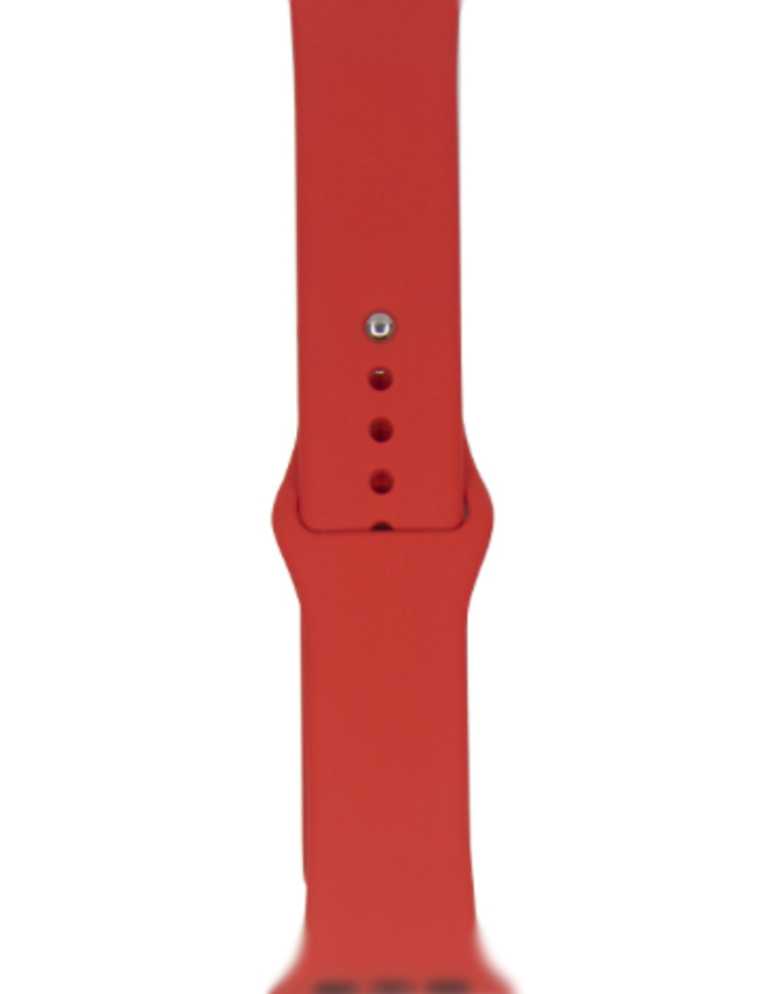 Classic silicone replacement band strap for Apple Watch band series 6 5 4 3 2 1 Band Color:# 4 red,Band Width:42/44mm S/M