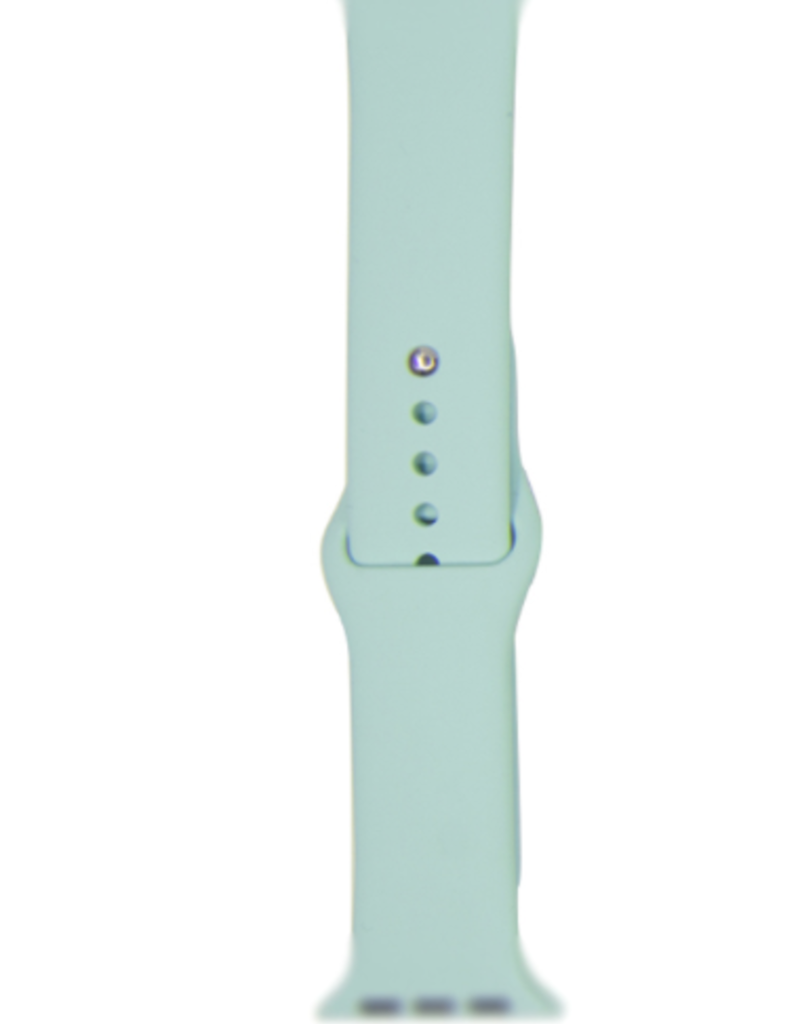 Classic silicone replacement band strap for Apple Watch band series 6 5 4 3 2 1 Band Color:# 29 marine green,Band Width:42/44mm S/M